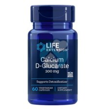 60 capsules Life Extension Calcium D-Glucarate 200 mg