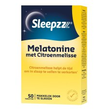 50 tabletten Sleepzz Melatonine met Citroenmelisse
