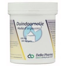 180 softgels DeBa Pharma Duindoornolie 500 mg