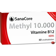 60 smelttabletjes SanaCore Methyl 10.000 Vitamine B12