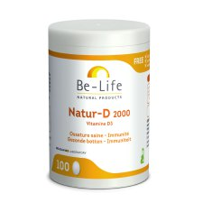 100 softgels Be-Life Natur-D 2000