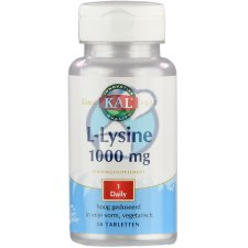 50 tabletten KAL L-Lysine 1000 mg