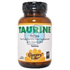 50 capsules Country Life Taurine 500mg