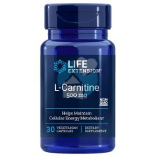 30 capsules Life Extension L-Carnitine 500 mg