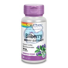 30 capsules Solaray Bilberry Berry Extract 160 mg