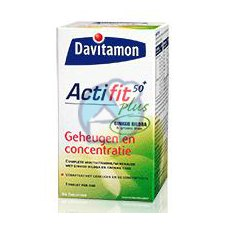 60 tabletten Davitamon Actifit 50 Plus Geheugen en concentratie