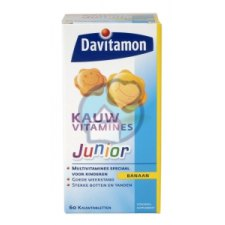 60 kauwtabletten Davitamon Junior Kauwvitamines Banaan